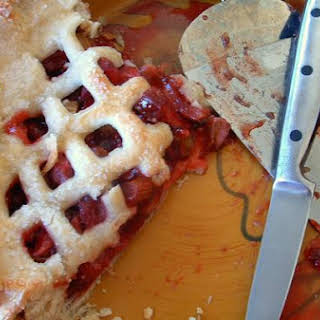 Strawberry Rhubarb Pie & Perfect Pie Crust.