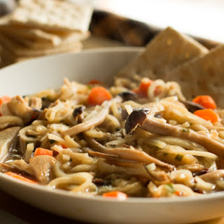 Mushroom Medley Chicken and Parsnip Noodle Soup