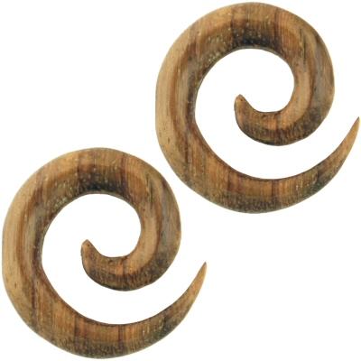 "Photo: Pair of Wood Swirls - WXS01, BRAND: Urban Star, GAUGES: 8g through 1/2"", PRICES: $11.25 - $13.75, BUY: http://www.steelnavel.com/product.asp?ID=4738"