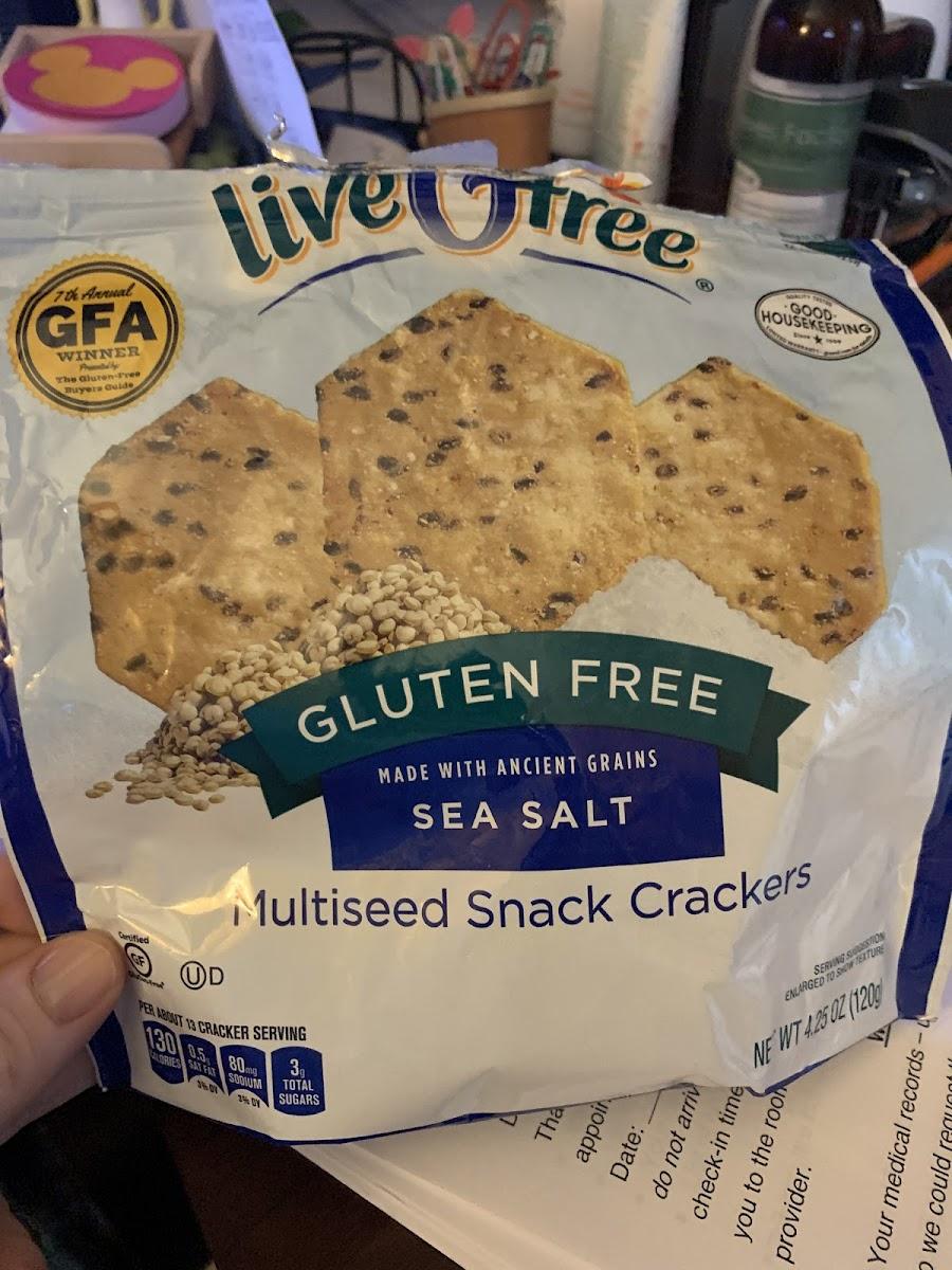 Multiseed Snack Crackers - Sea Salt