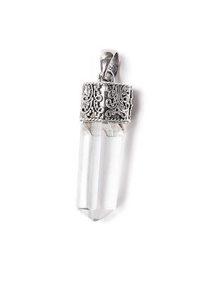 Bergkristall, spets med filigranarbetat silver