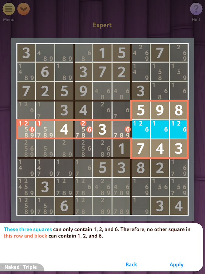 Sudoku- screenshot