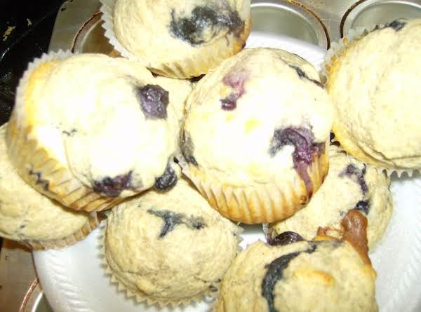 Whole Wheat Splenda Blueberry Muffins Recipe