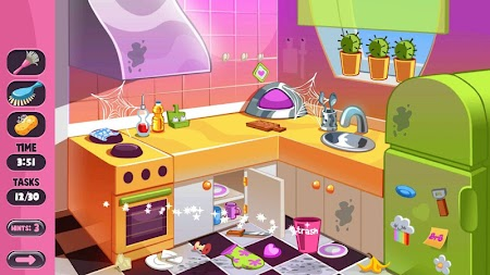 Princess House Cleaning Game New APK screenshot thumbnail 4