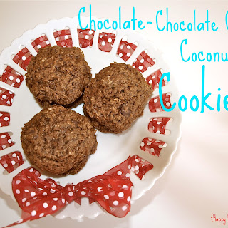 Chocolate-Chocolate Chip Coconut Cookies