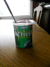 Photo: Activia blueberry, a great low fat yogurt with lots of good active cultures.