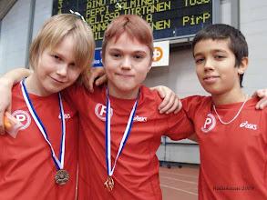 Photo: P11 Hippohallien menestyjiä: Felix Suihko, Joonatan Sateila ja Reda Bellagnaoui