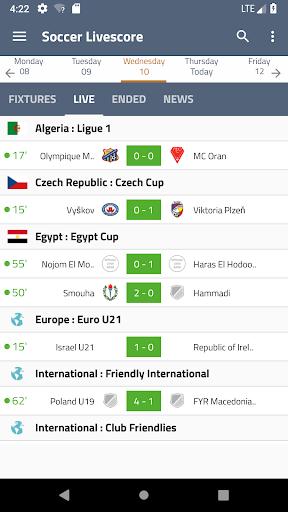 Soccer Livescore 1.0 screenshots 2