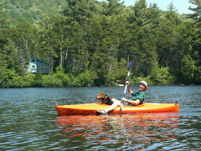 Photo: Kayaking at Ricker Pond State Park by Linda Carlsen-Sperry.