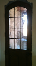 Photo: Decorative Art Glass baroque style, stained glass, privacy, door.