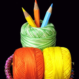 BUNDLES OF COLOURS by SANGEETA MENA  - Artistic Objects Other Objects