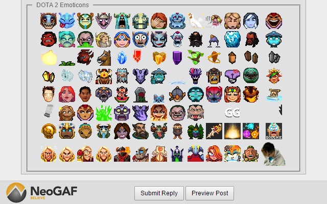 NeoGAF Dota 2 Emoticons