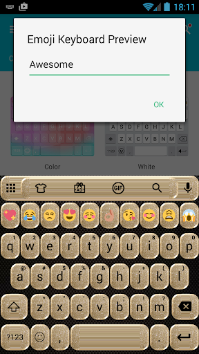 Glitter Gold Emoji Keyboard