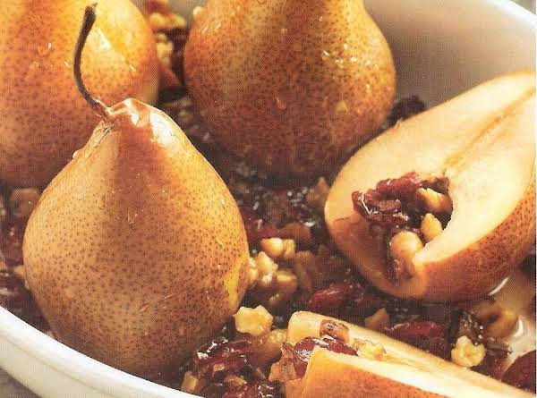 Maple Baked Stuffed Pears Recipe
