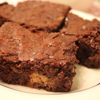 Browned Butter Peanut Butter Cup Brownies.