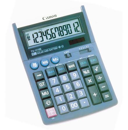 Räknare Canon TX1210-E  Bords-