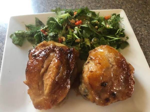 Asian Chicken With Chili Herb Salad