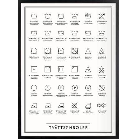 Tvättsymboler 30x40 cm