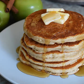 Apple Cinnamon Buttermilk Pancakes.