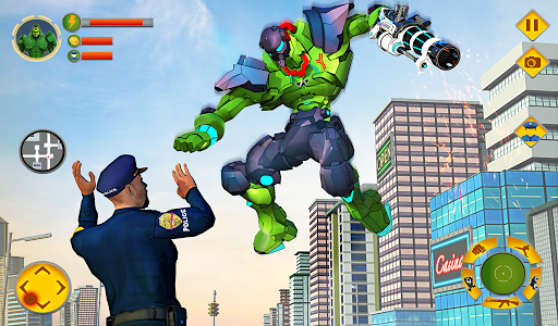 Incredible Monster Robot Hero Crime Shooting Game apkdebit screenshots 9