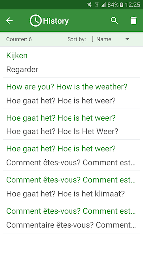 Dutch French Translator Applications pour Android screenshot