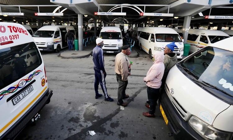 It was business as usual for taxi drivers on the deck at Cape Town CBD on June 22 2020.