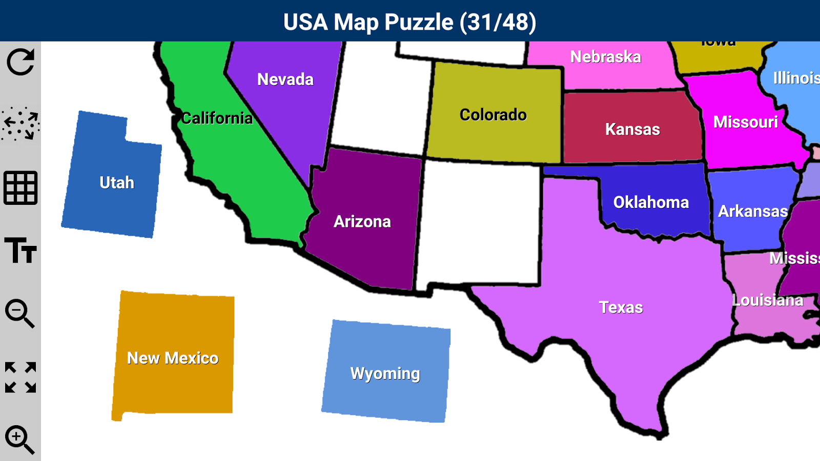 USA Map Puzzle Android Apps On Google Play - Us states map puzzle game