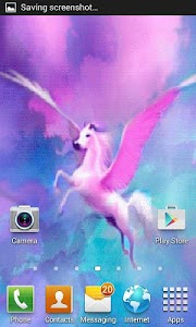 Pink Pegasus Live Wallpaper screenshot 2