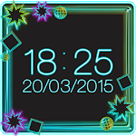 Neon Digital Weather Clock 2.0 Apk