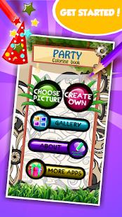 Party omalovánky - náhled
