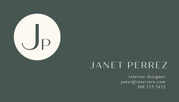 Perrez Interior Design - Business Card Template
