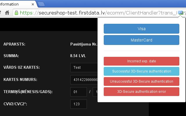 FirstData.lv Testing Tool