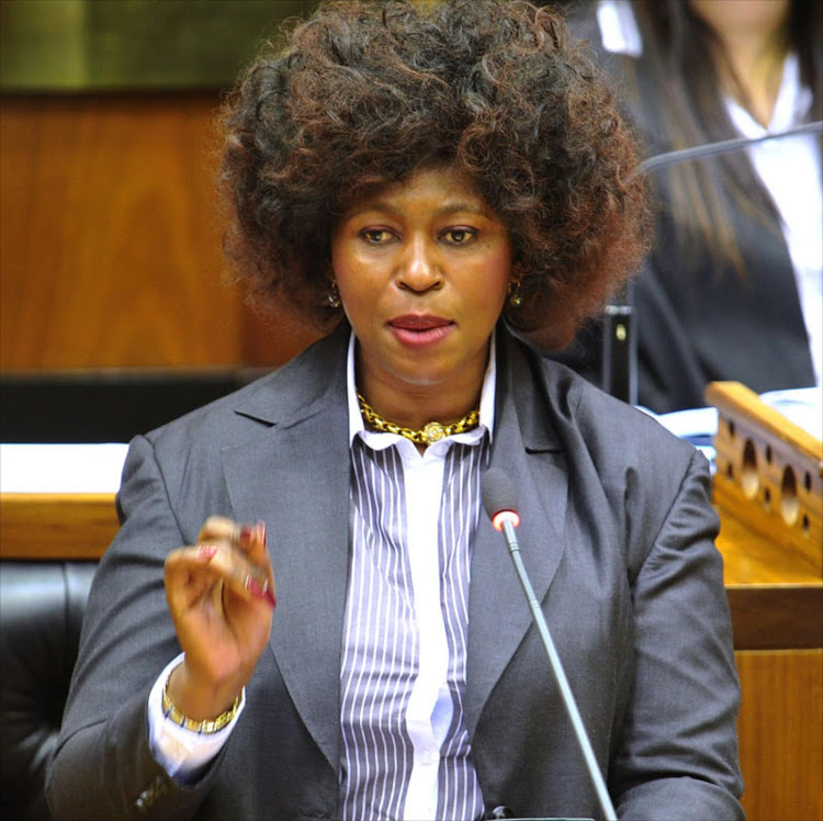 Dr. Makhosi Khoza speaks during the National Assembly debate.
