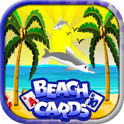 Beach Cards: hard free solitaire tripeak card game