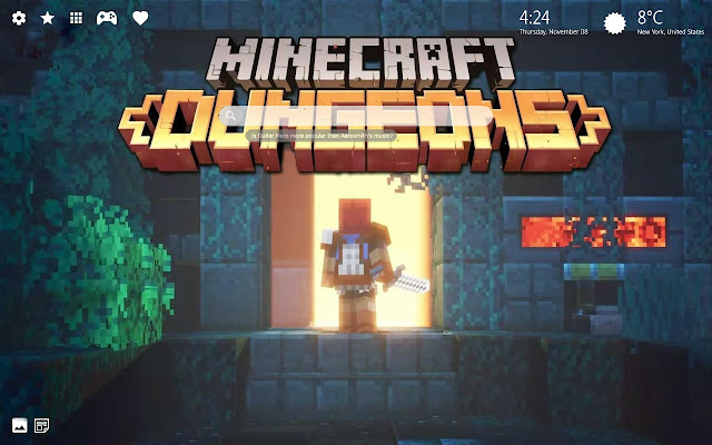 Minecraft Dungeons Game Wallpapers Collection