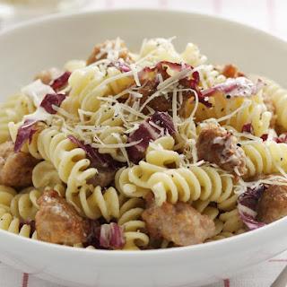Fusilli with Sausage, Radicchio and Mascarpone Recipe