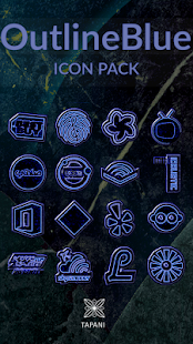 OUTLINE BLUE icon pack black- screenshot thumbnail