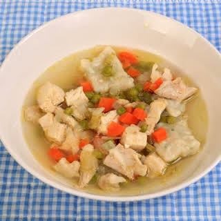Simple Chicken And Dumpling Soup.