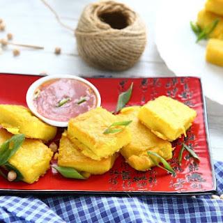 Turmeric Chickpea Tofu - Vegan, Gluten-Free, Soya-Free, Nut-Free Recipe