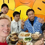 with the boys at Hing Kee restaurant in Hong Kong, , Hong Kong SAR