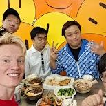 with the boys at Hing Kee restaurant in Hong Kong, , Hong Kong SAR