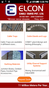 Elcon Cable Trays- screenshot thumbnail