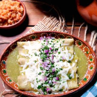 (Mild Green Enchiladas).