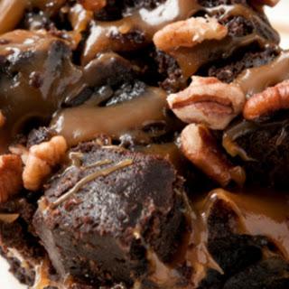 Salted Caramel Hazelnut Brownie Bars.