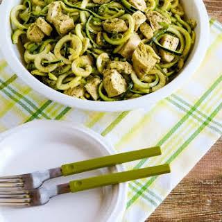 Chicken Pesto Zucchini Noodle Salad.
