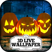 3D Wallpaper - Pumpkin Patch