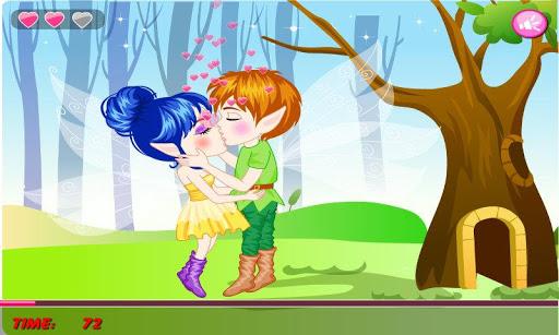 Romantic Spring Kissing