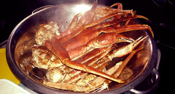 Serve crab legs with butter for dipping.