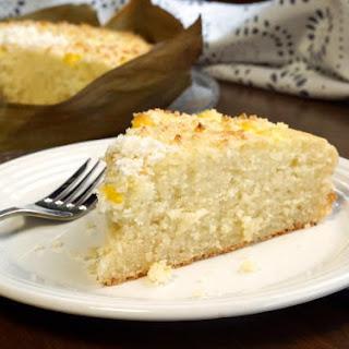 Bibingka (Filipino Coconut Milk Cake).