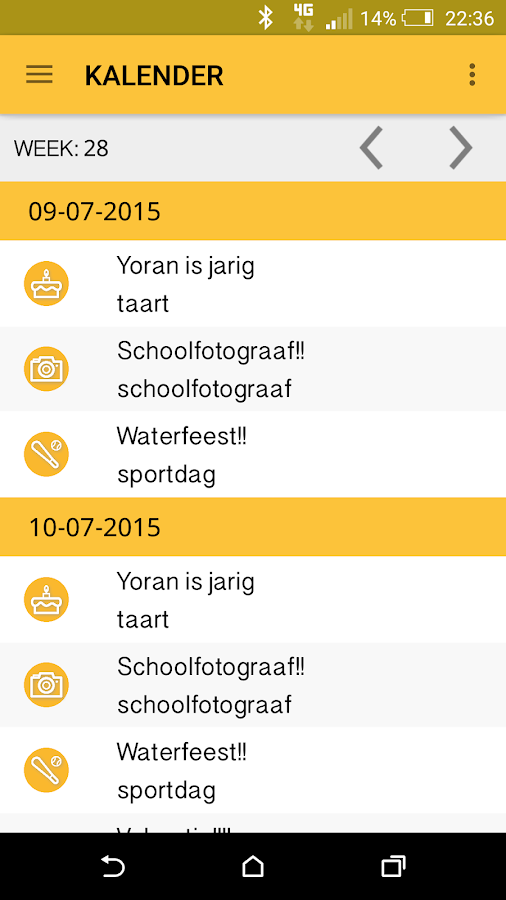 MySchoolApp Junior: screenshot